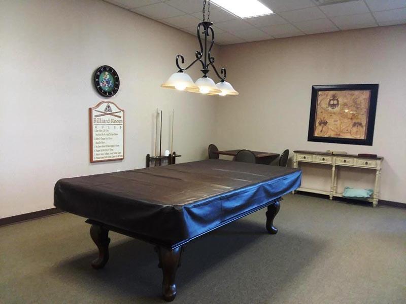 Photo of billiards table.