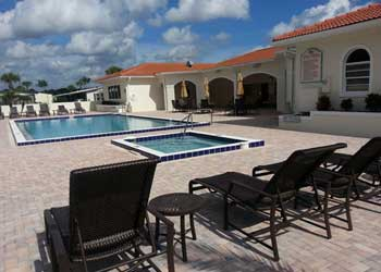 Photo of pool and spa.